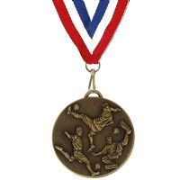 Target50 Football Medal with RWB</br>AM980R.12